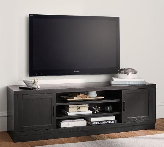 Reynolds Low Tv Stand | Pottery Barn Inside Most Recently Released Long Low Tv Stands (Image 16 of 20)