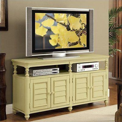 Riverside Furniture Placid Cove Louver Console Seagrass Green Tv With Best And Newest Green Tv Stands (Image 17 of 20)