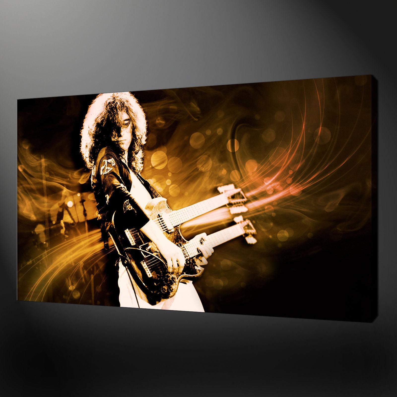 Robert Plant Led Zeppelin Canvas Wall Art Pictures Prints Free Uk For Led Zeppelin Wall Art (View 8 of 20)
