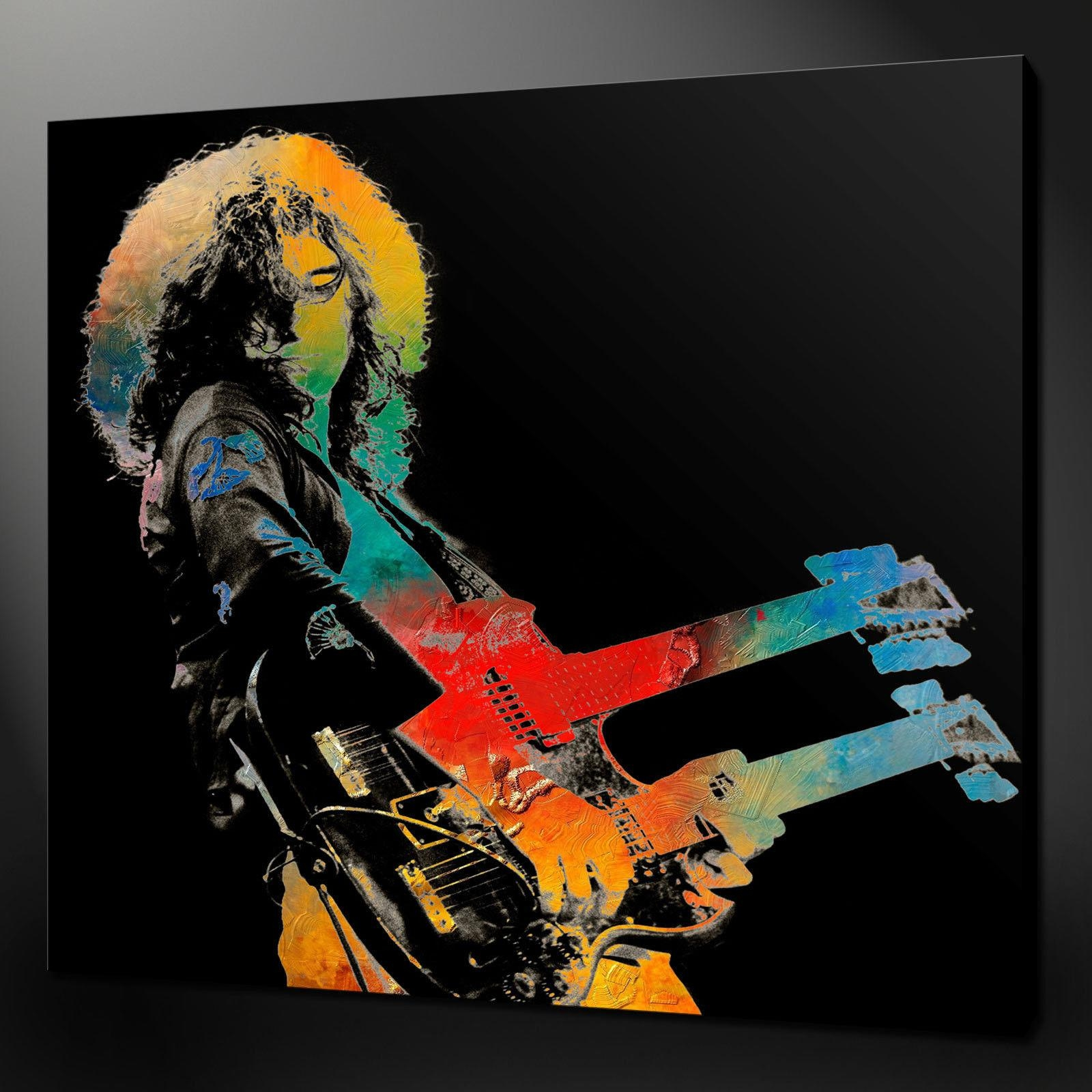 Robert Plant Led Zeppelin Canvas Wall Art Pictures Prints Variety Pertaining To Led Zeppelin Wall Art (View 2 of 20)
