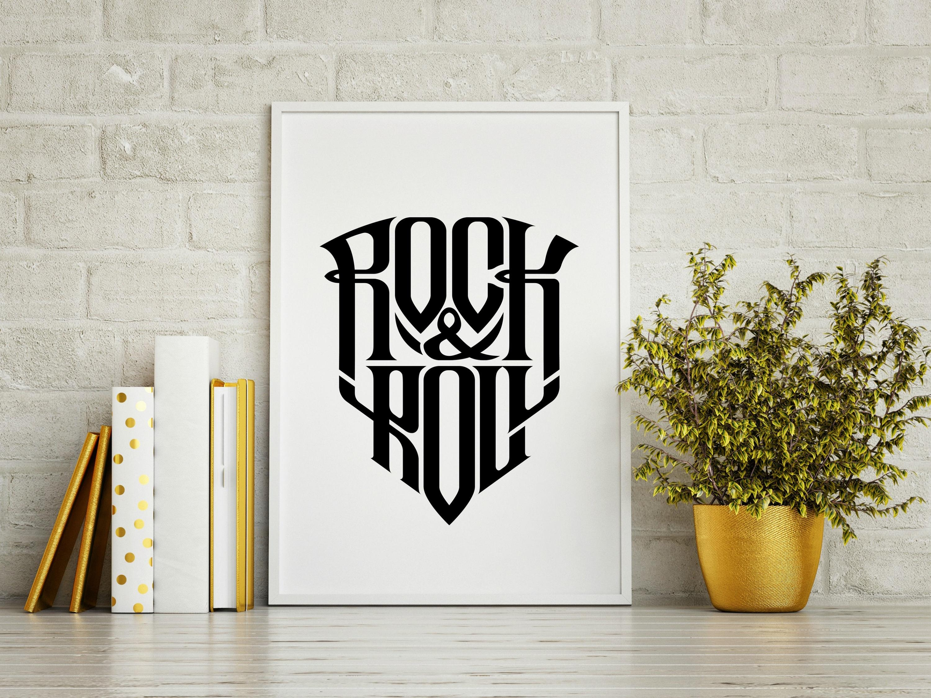 Rock N Roll! Wall Art Home Decor  Rock And Roll Art, Rock And Roll Regarding Rock And Roll Wall Art (Image 15 of 20)
