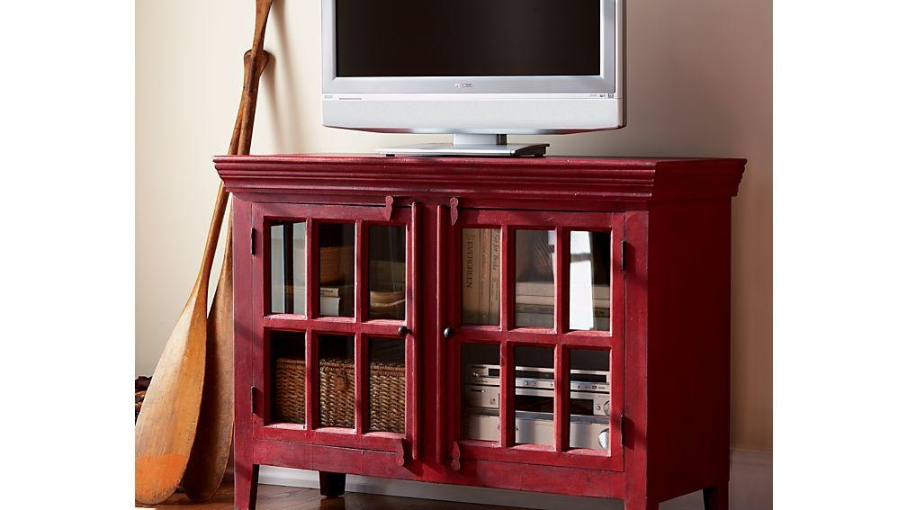 "Rojo Red 46"" Media Storage Cabinet 