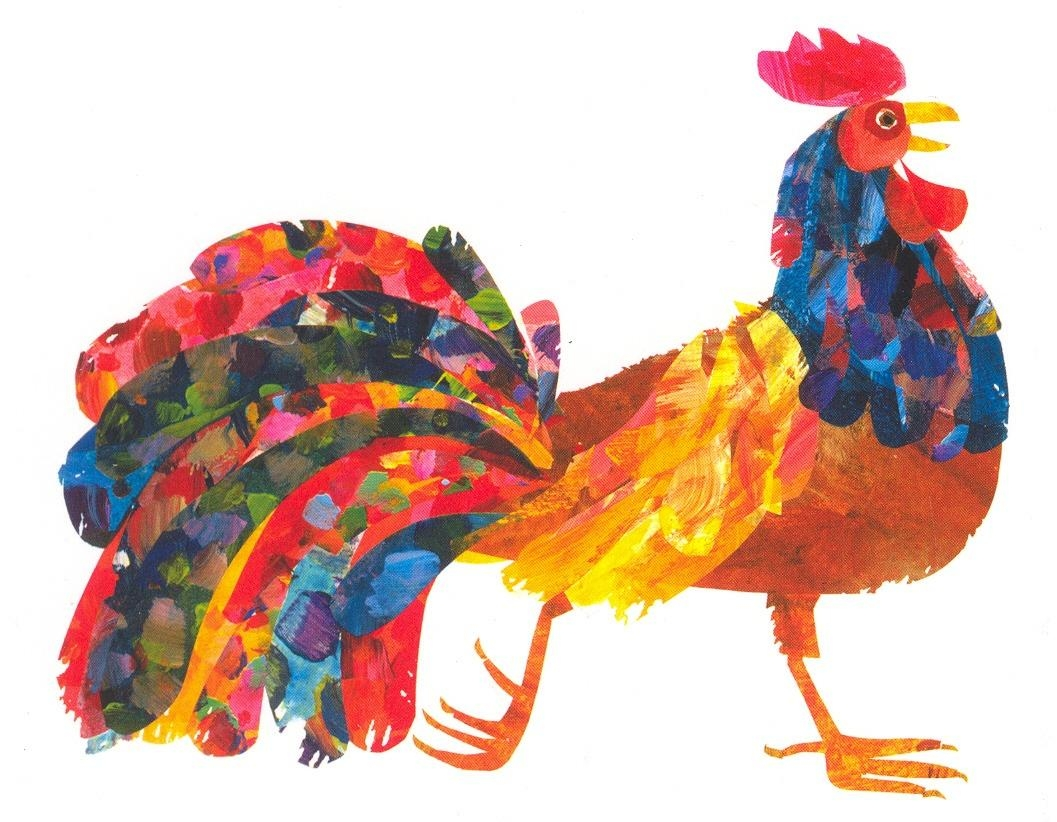Rooster Postcard | The Eric Carle Museum Of Picture Book Art Intended For Eric Carle Wall Art (Image 14 of 20)