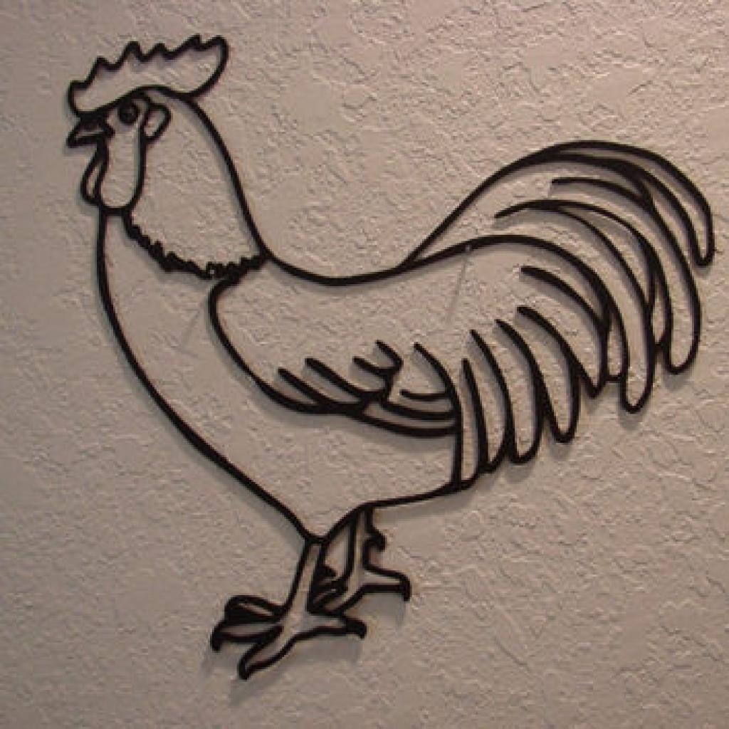 Rooster Wood Wall Art | Wood Wall Art, Roosters And Wood Walls Intended For Metal Rooster Wall Art (View 9 of 20)