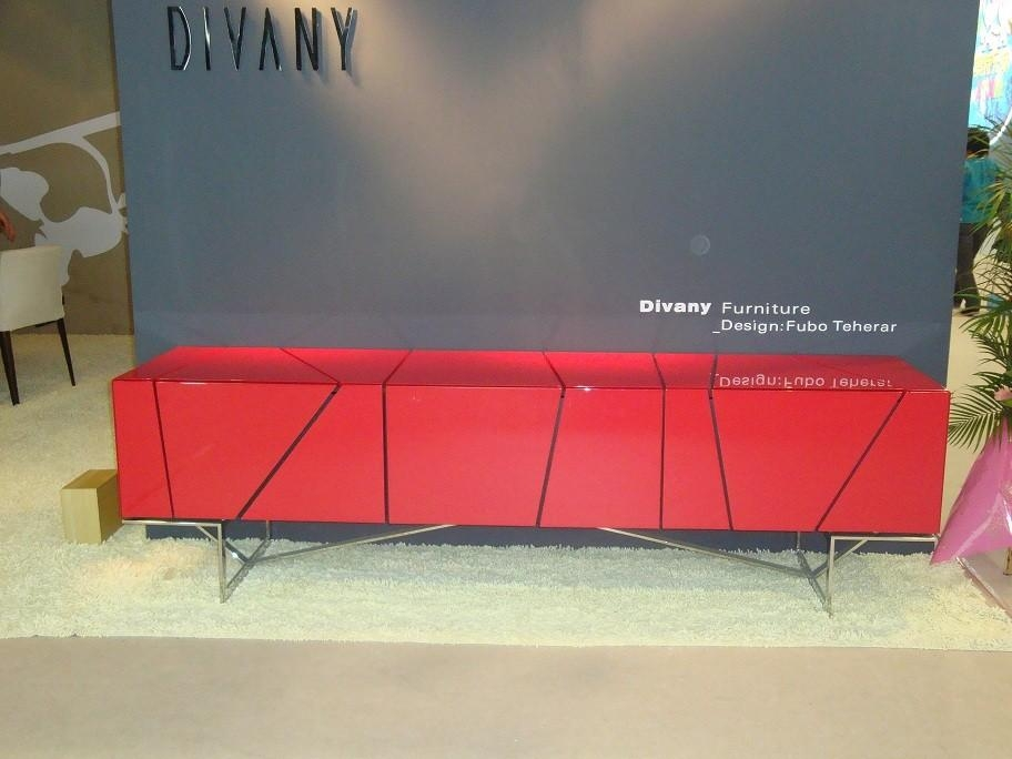 Rostock Modern Red Tv Stand Within 2017 Red Modern Tv Stands (View 12 of 20)