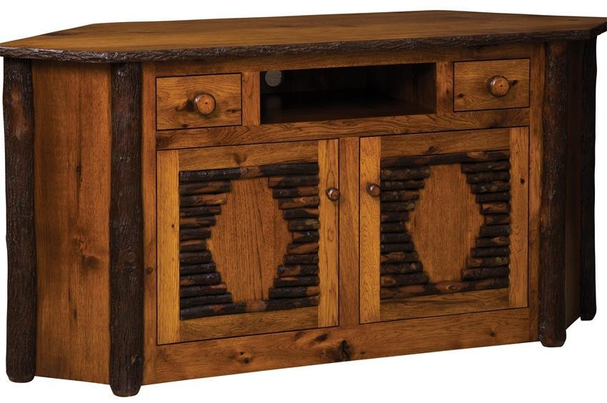 Rustic Corner Tv Stand With Regard To Latest Corner Tv Stands (Image 18 of 20)