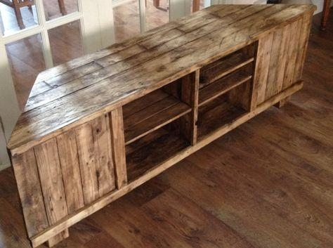 Rustic Corner Tv Standwoodworxbyboz On Etsy | Projects To Try With Regard To Latest Rustic Corner Tv Stands (View 18 of 20)