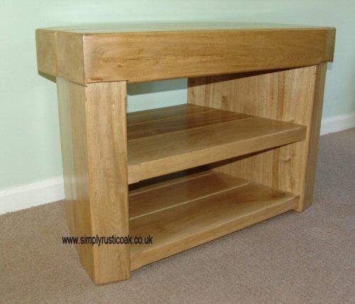 Rustic Oak 3 Beam Corner Tv Stand | Simply Rustic Oak – Handmade In Most Popular Oak Corner Tv Stands (View 9 of 20)