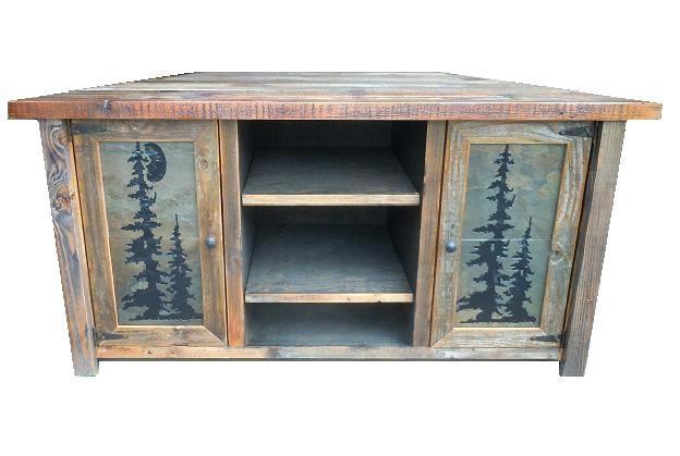 Rustic Oak Corner Tv Cabinet Laredo Rustic Corner Tv Cabinet regarding Most Current Rustic Corner Tv Cabinets