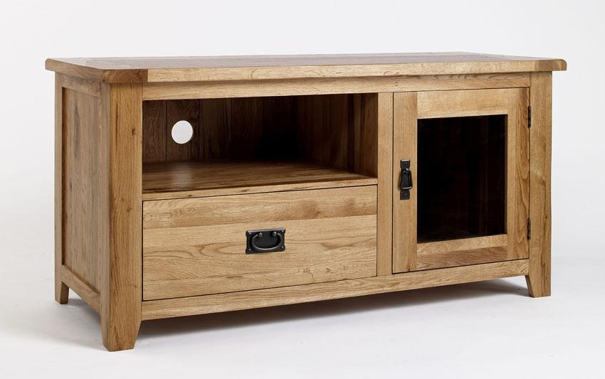 Rustic Oak Tv Cabinet | Hampshire Furniture With Most Recent Rustic Wood Tv Cabinets (Image 15 of 20)