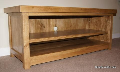 Rustic Oak Tv Stands | Handmade Oak Furniture – Handmade Rustic With Most Current Tv Stands In Oak (View 4 of 20)