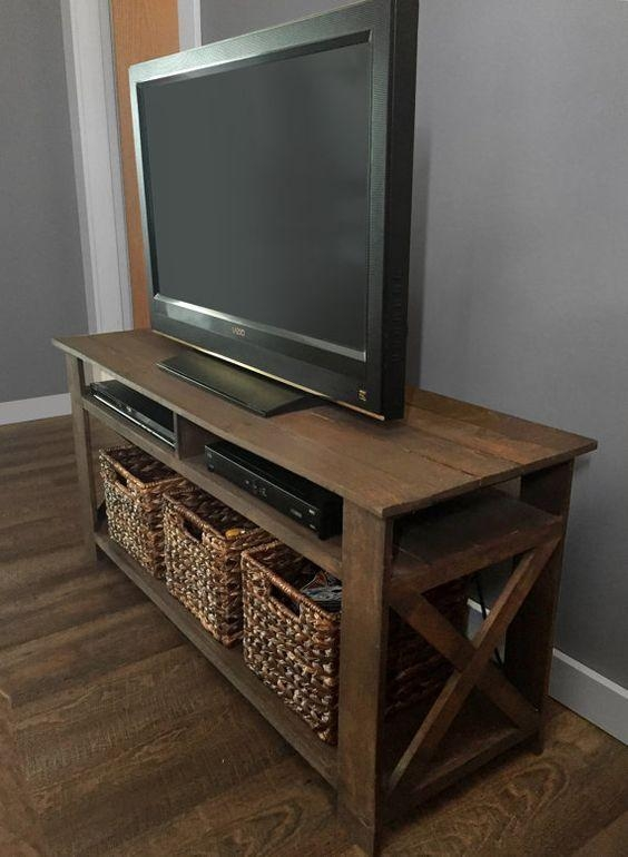 Rustic Pallet Tv Stand Planskelscahill On Etsy | Tv In Most Popular Rustic Looking Tv Stands (View 8 of 20)