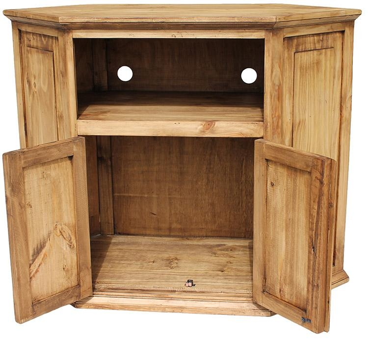 Rustic Pine Collection – Corner Tv Stand – Com11 Pertaining To Recent Pine Corner Tv Stands (Image 17 of 20)