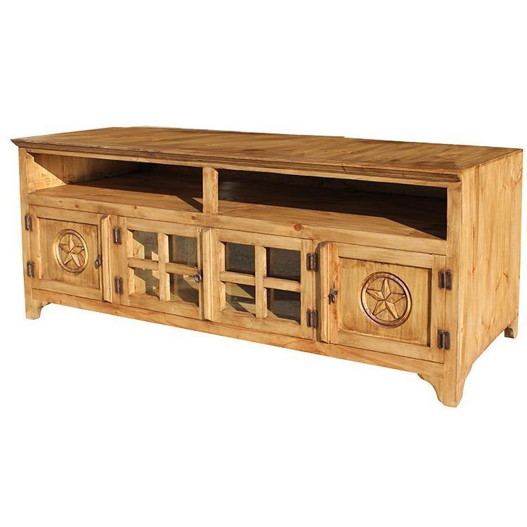 Rustic Pine Collection – Gregorio Star Tv Stand – Com560 With Recent Pine Tv Cabinets (Image 15 of 20)