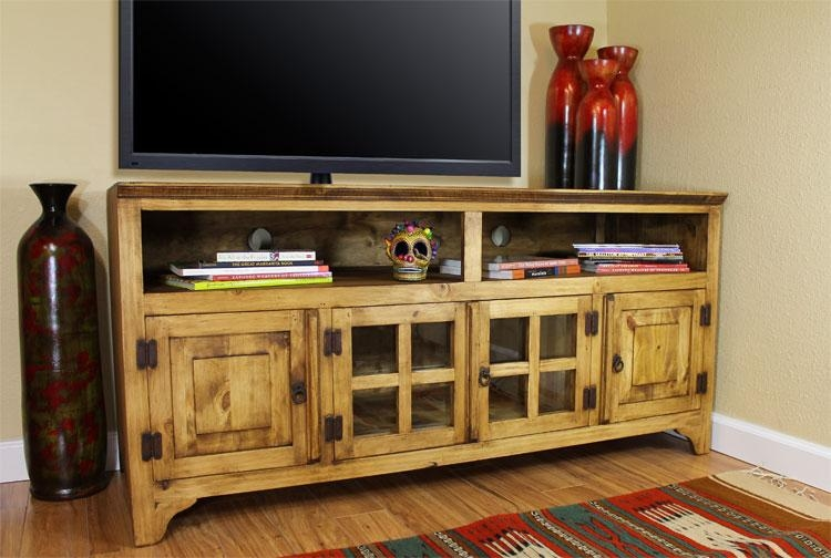 Rustic Pine Collection – Gregorio Tv Stand – Com60 Pertaining To Most Recently Released Pine Tv Cabinets (Image 16 of 20)