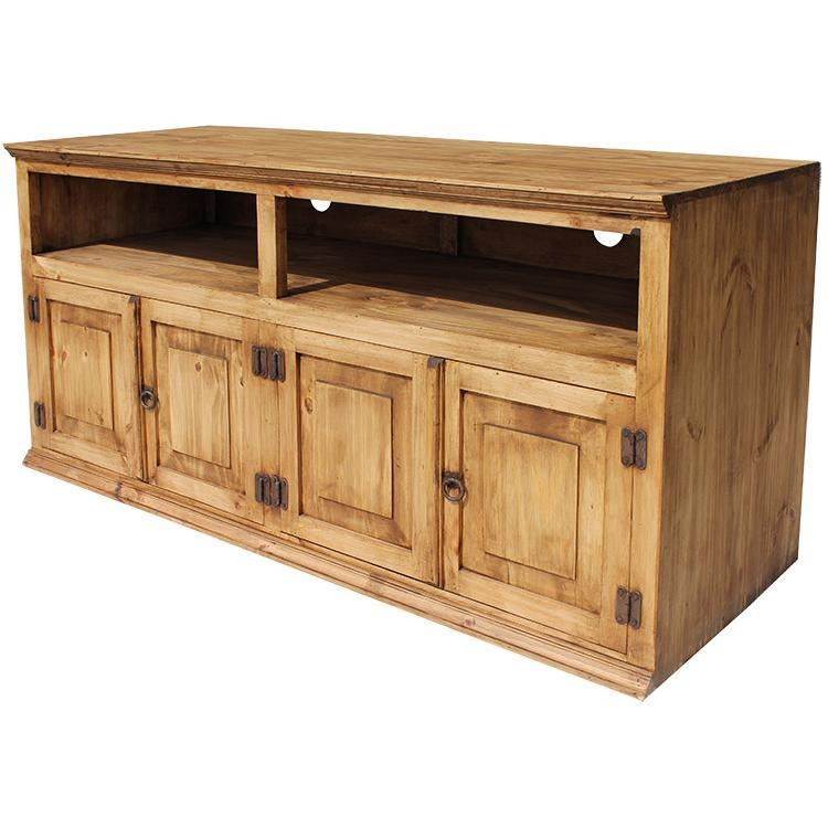 Rustic Pine Collection – Santana Tv Stand – Com99 Throughout Recent Rustic Pine Tv Cabinets (View 11 of 20)