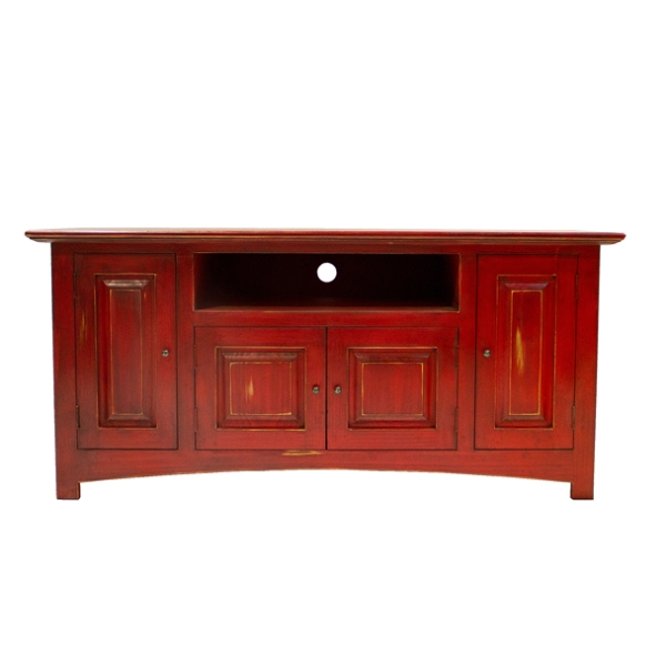 Rustic Red Painted Tv Stand | Chubby's Mattress – Mattresses And Pertaining To Newest Rustic Red Tv Stands (Image 18 of 20)