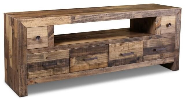 "Rustic Style Fulton Tv Stand, 72"" – Rustic – Entertainment Centers For Recent Rustic Tv Stands (Image 13 of 20)"