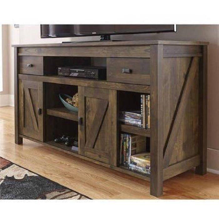 Rustic Tv Stand Console Up To 60 Barn Wood Farmhouse Home For Recent Rustic 60 Inch Tv Stands (Image 14 of 20)