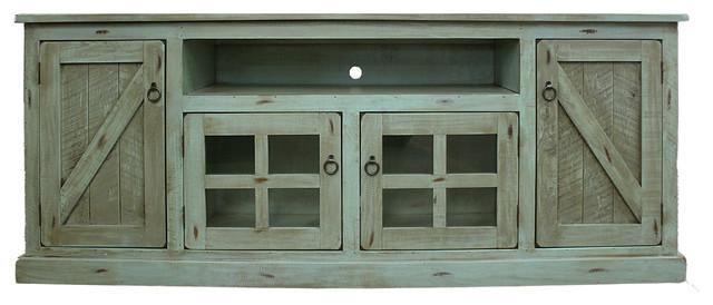 Rustic Tv Stand – Farmhouse – Entertainment Centers And Tv Stands Within 2017 Green Tv Stands (Image 18 of 20)