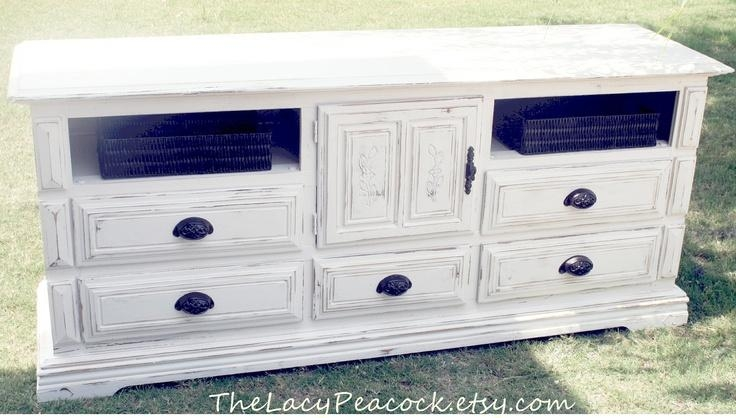 Rustic White Dresser | Drop Camp Intended For Newest Rustic White Tv Stands (Image 12 of 20)