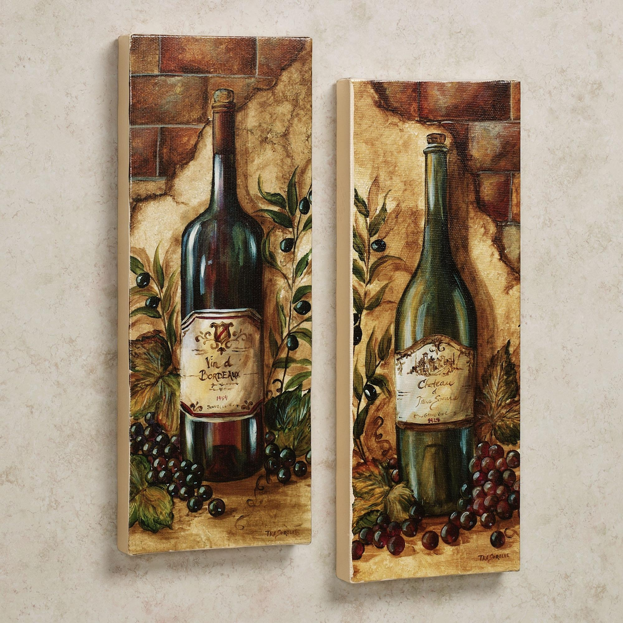 Rustic Wine And Grape Kitchen Decor : Wine And Grape Kitchen Decor Inside Wine And Grape Wall Art (Image 13 of 20)