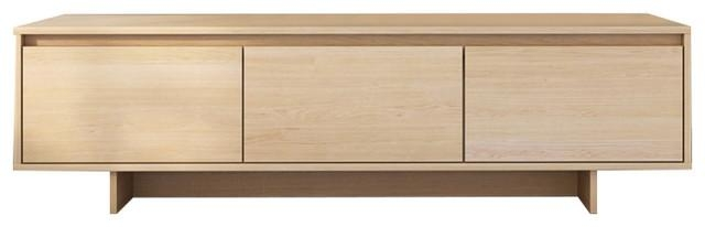 Rustik Tv Stand, Natural Maple – Contemporary – Entertainment Regarding Most Up To Date Maple Wood Tv Stands (Image 15 of 20)