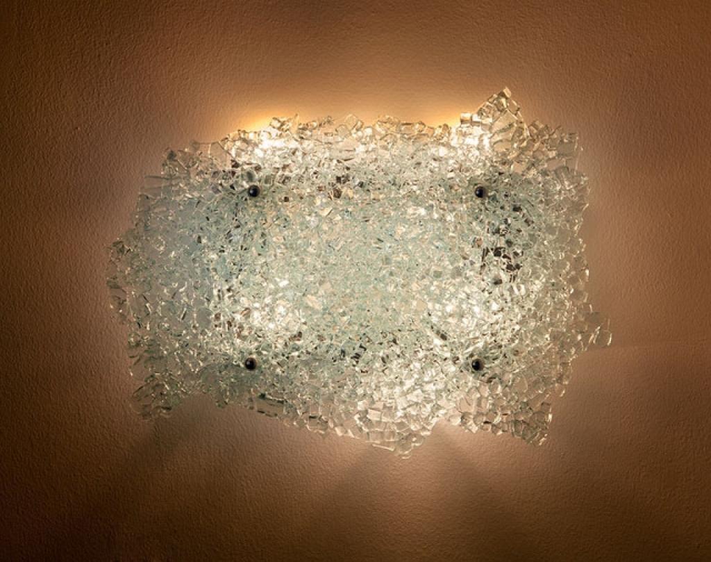 Safari 2 Light Italian Art Glass Wall Sconce Modern Wall Art Glass In Italian Glass Wall Art (Image 16 of 20)