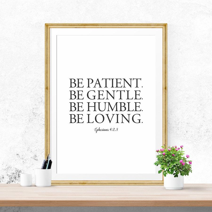 Sale Bible Verse Wall Art Be Patient Be Gentle Be Humble Within For This Child I Prayed Wall Art (View 17 of 20)