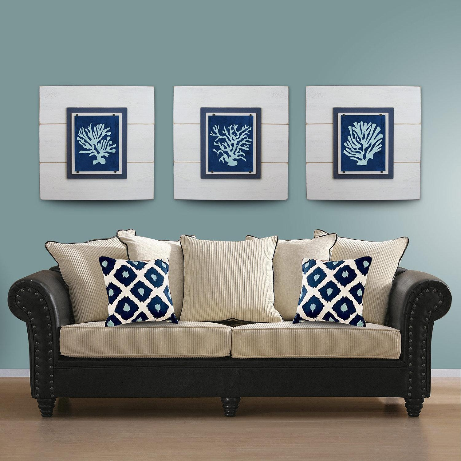 Salecoral Wall Art Set Of 3 White Framed 8X10 Xtra Large Within Wall Art Sets Of  (Image 10 of 20)