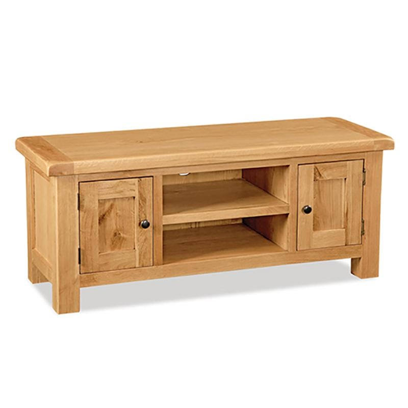 """Salisbury Oak Large Tv Stand, Up To 53"""" Pertaining To Best And Newest Large Oak Tv Stands (View 7 of 20)"""