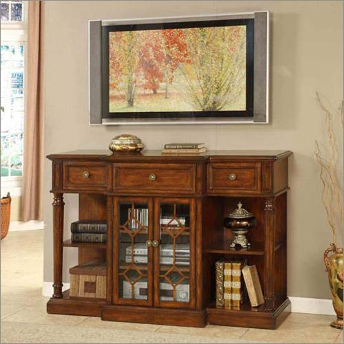 San Gabriel Antique Style Tv Standsignature Home Furnishings Regarding Best And Newest Antique Style Tv Stands (View 5 of 20)