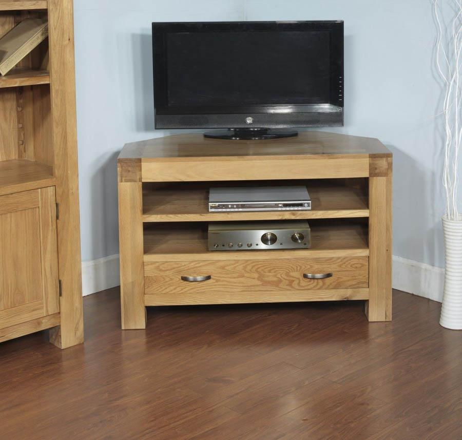Santana Blonde Oak Corner Tv Cabinet Within Best And Newest Santana Oak Tv Furniture (View 17 of 20)