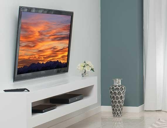 Sanus Simplicity Sxdp6 | Tilting Wall Mounts | Mounts | Products Within Most Recent Tilted Wall Mount For Tv (Image 9 of 20)