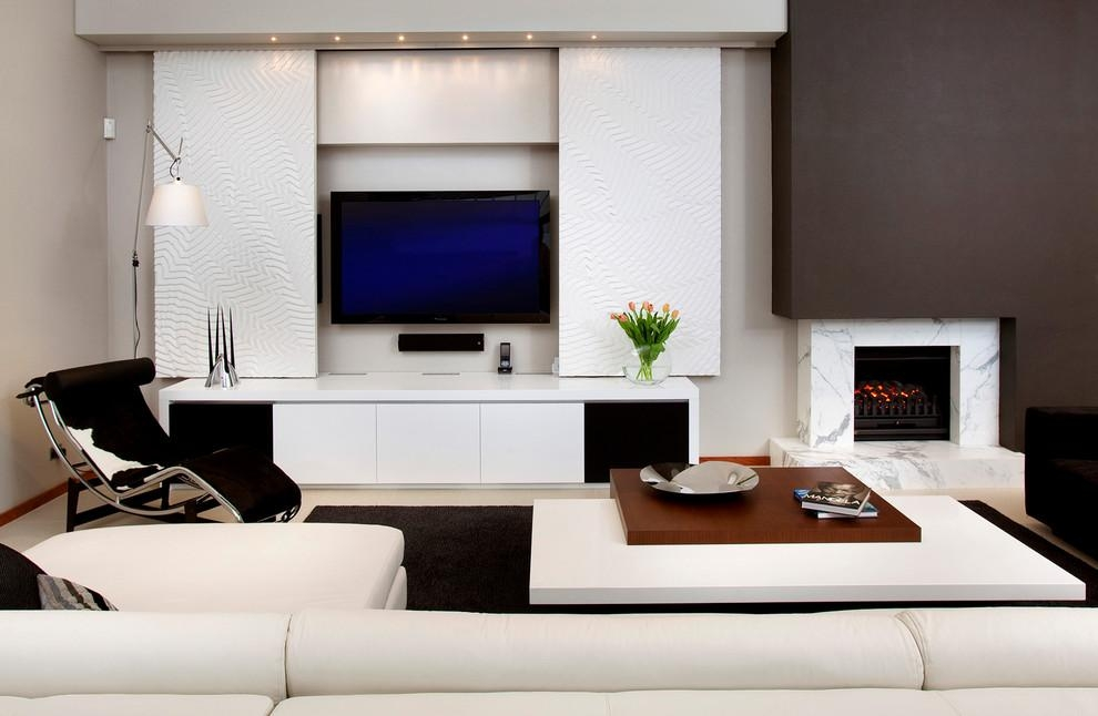 Sauder Tv Stands In Living Room Contemporary With Free Standing Within Latest Freestanding Tv Stands (View 6 of 20)