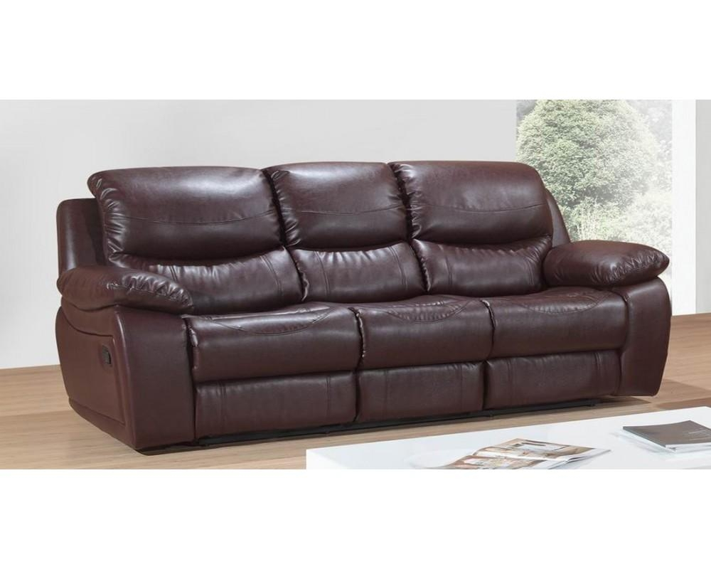 Savon 3 Seater Reclining Leather Sofa – S3Net – Sectional Sofas Regarding 3 Seater Sofas For Sale (Image 15 of 21)