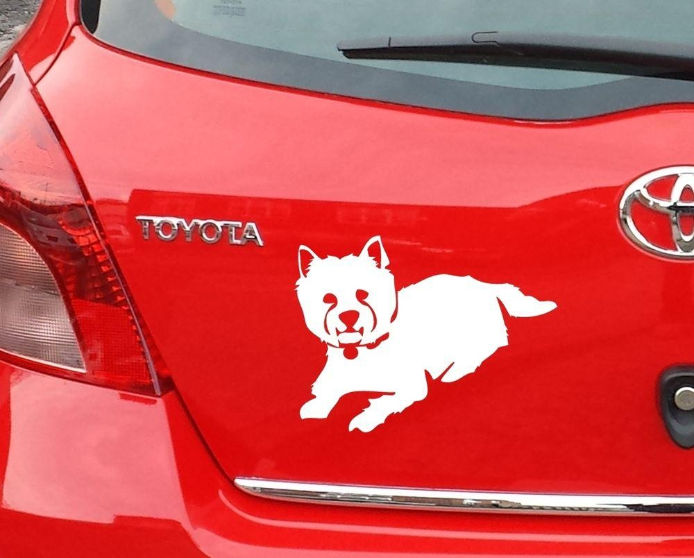 Sca Art – Westie West Highland Terrier Sticker Vinyl Decal For Car Throughout Westie Wall Art (View 12 of 20)