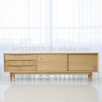 Scandinavian And Contemporary Modern Oak Tv Stand Credenza – Buy For Best And Newest Contemporary Oak Tv Stands (Image 14 of 20)