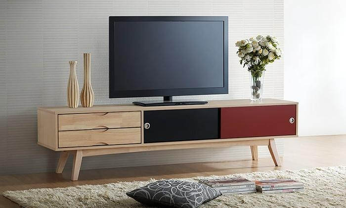 Scandinavian Inspired Tv Stand | Groupon Goods Pertaining To Most Recently Released Scandinavian Tv Stands (View 2 of 20)