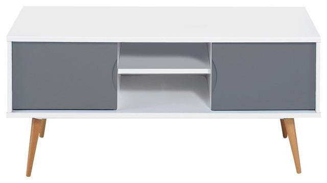 Scandinavian White And Grey Tv Stand – Scandinavian – Tv Stands With Most Recently Released Scandinavian Tv Stands (View 18 of 20)
