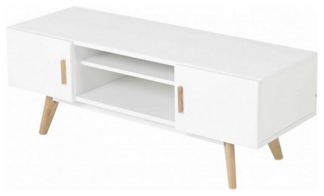 Scandinavian White And Oak Tv Stand – Scandinavian – Tv Stands Inside Most Recently Released Scandinavian Tv Stands (Image 15 of 20)
