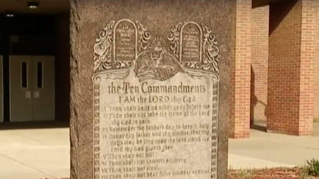 School District To Remove Ten Commandments Monument After Atheist Inside Ten Commandments Wall Art (Image 14 of 20)