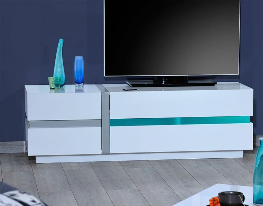 Sciae Cross Modern High Gloss White Tv Unit 150Cm Pertaining To Latest 150Cm Tv Unit (Image 15 of 20)