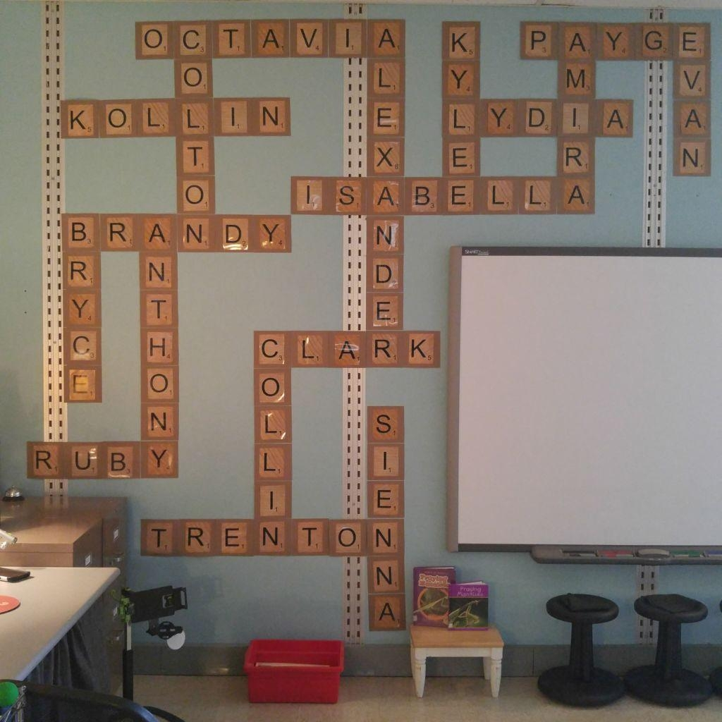 Scrabble Names Classroom Wall – Jessica Meacham Inside Scrabble Names Wall Art (Image 11 of 20)