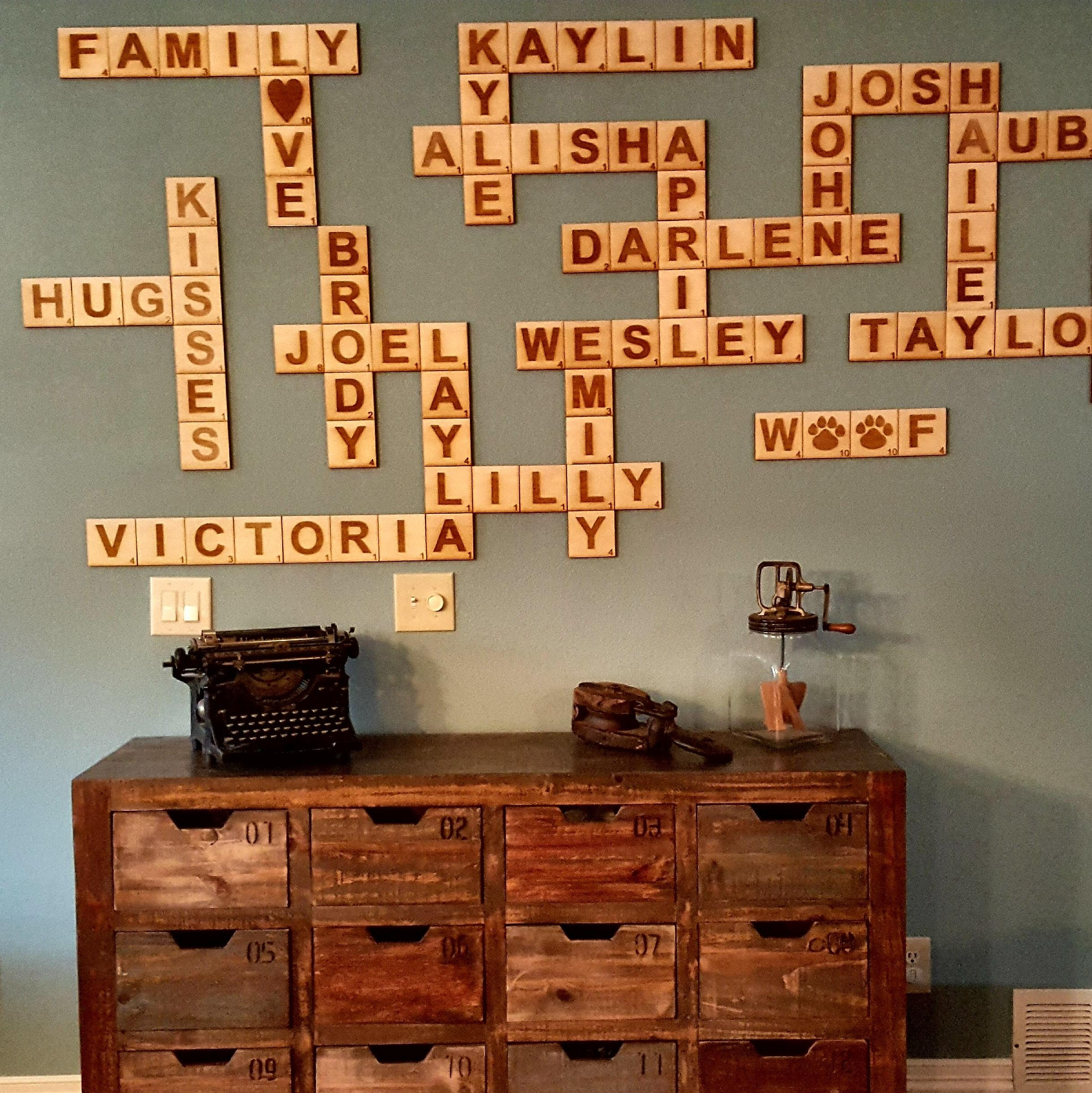 Scrabble Wall Tiles, Scrabble Letters, Scrabble Tiles, Scrabble Pertaining To Scrabble Letter Wall Art (Image 17 of 20)