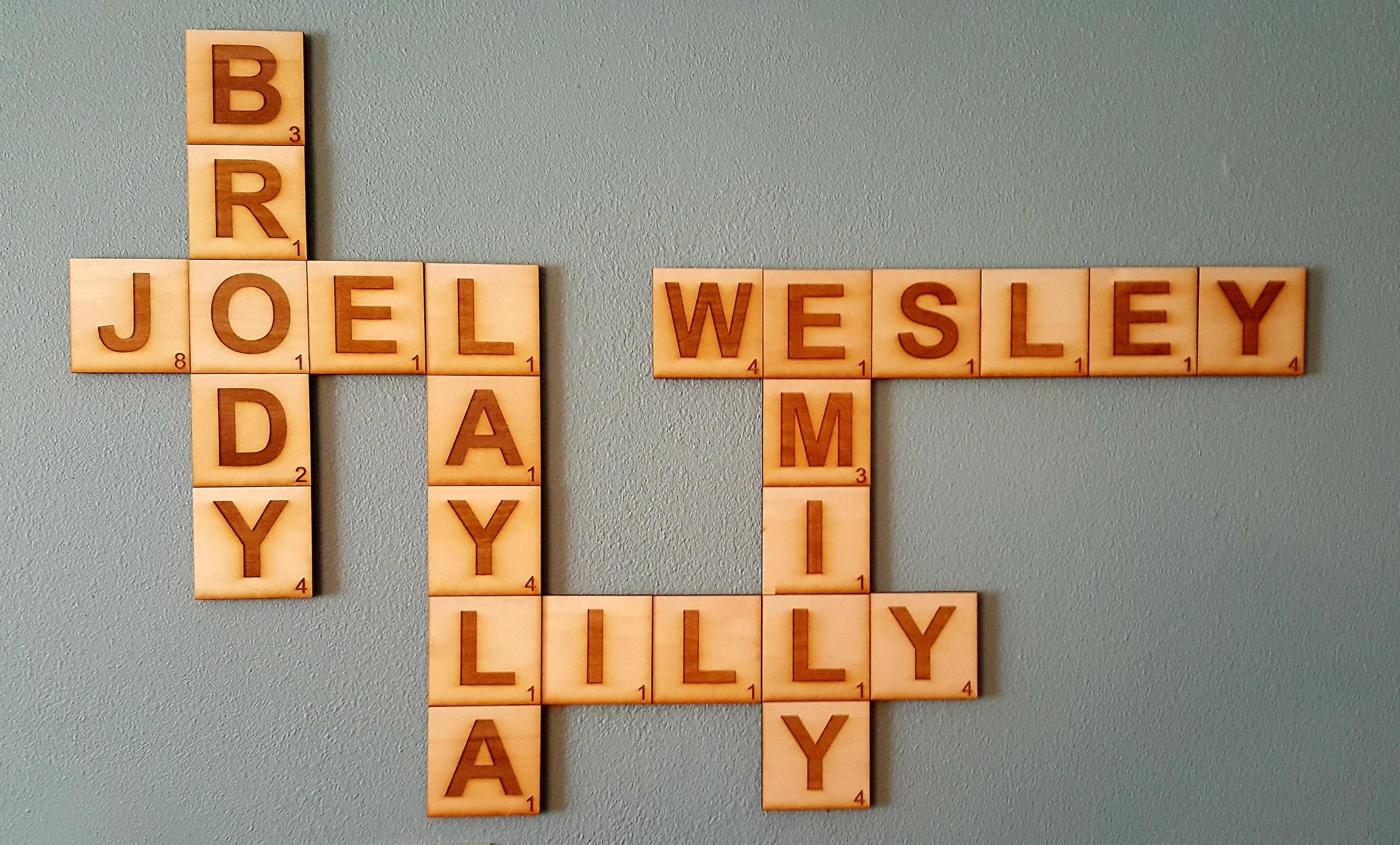 Scrabble Wall Tiles, Scrabble Letters, Scrabble Tiles, Scrabble Pertaining To Scrabble Letters Wall Art (Image 14 of 20)