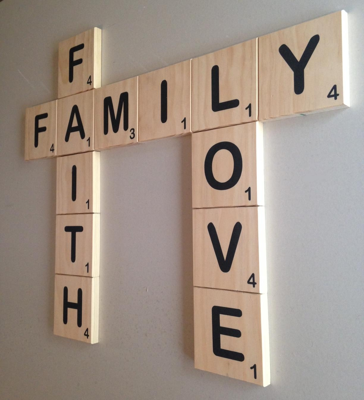 Scrabble Wall Tiles, Scrabble Wall Art Within Scrabble Letters Wall Art  (Image 15 Of