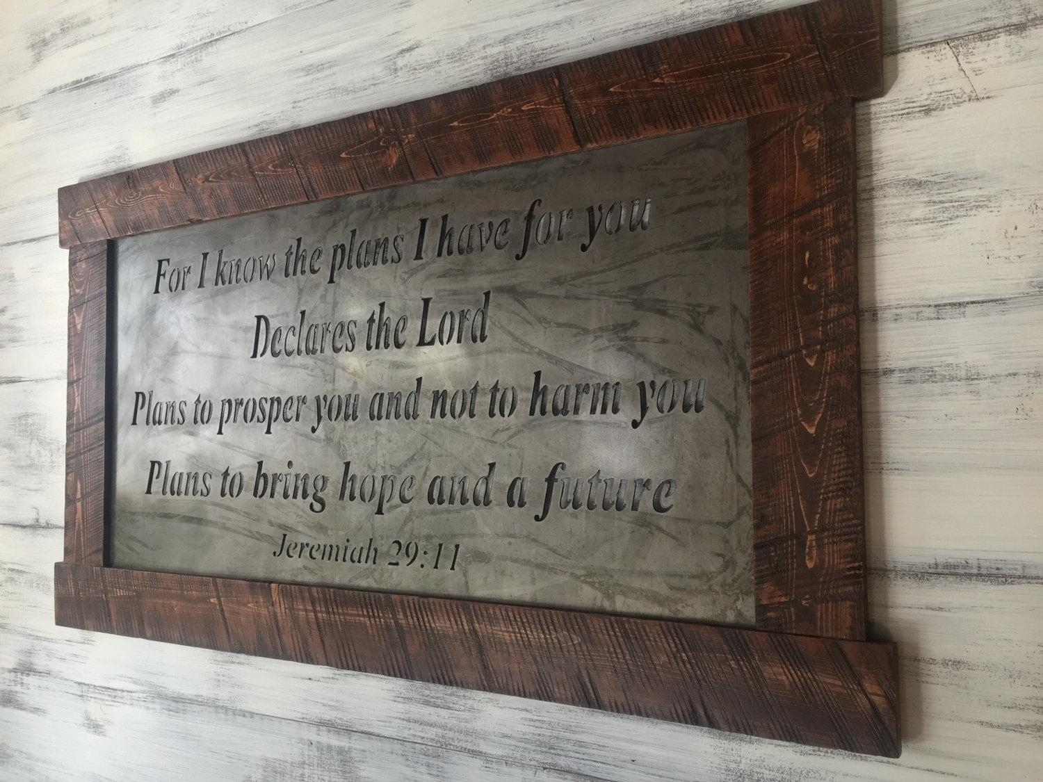 Scripture Art Metal Signs Scripture Wall Art Metal Wall With Metal Wall Art Quotes (View 5 of 20)
