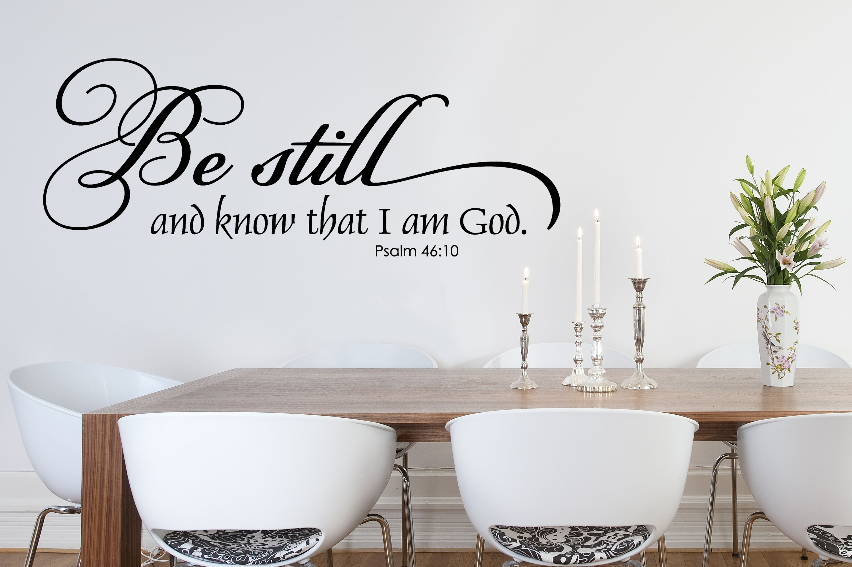 Scripture Art Religious Wall Decal – Be Still And Know – Wall In Be Still And Know That I Am God Wall Art (View 3 of 20)