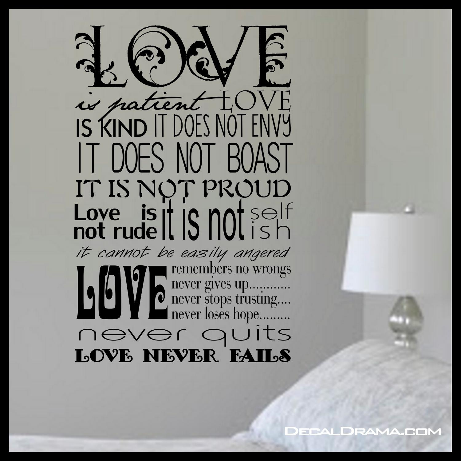 Scripture – Love Is Patient, Love Is Kind, Inspired1 Within Love Is Patient Love Is Kind Wall Art (Image 18 of 20)